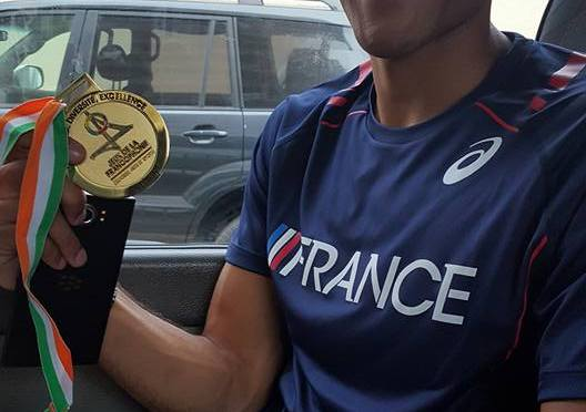 Athlétisme 110m haies/ HERKENRATH en or à Abidjan.