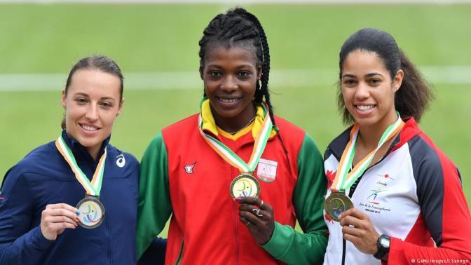 Athlétisme 100m haies/ Le Burkina Faso en or.