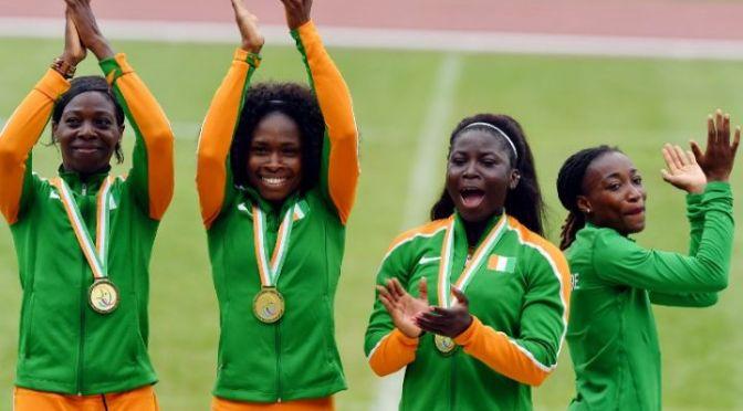 Athlétisme 4 X 100 / Air Côte d'Ivoire atterrit au stade.