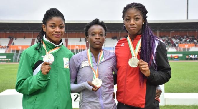 Athlétisme 100m (F)/ Natacha NGOYE, la femme la plus rapide des jeux.