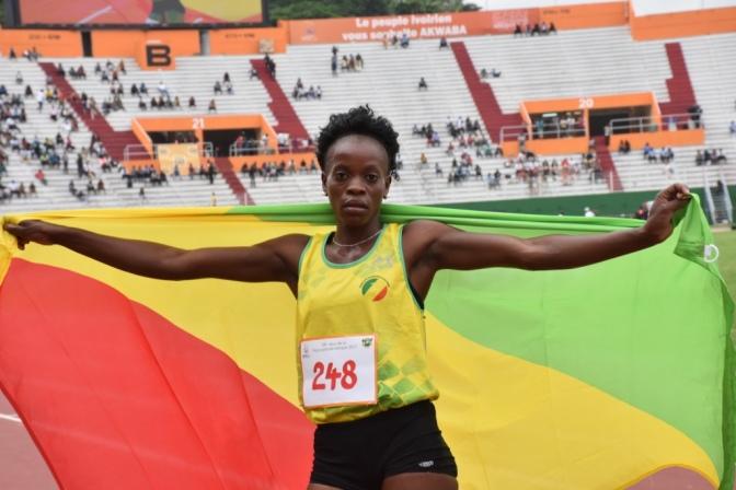 Athlétisme 200m (F) / NGOYE décroche la médaille d'or.