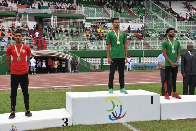 Athlétisme 800 m (H)/ Oussama NABIL en tête.