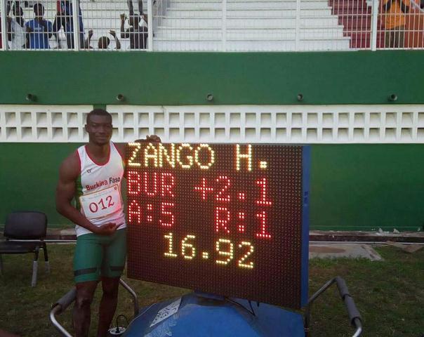 Athlétisme (Triple saut) H / Zango, l'étalon en or.